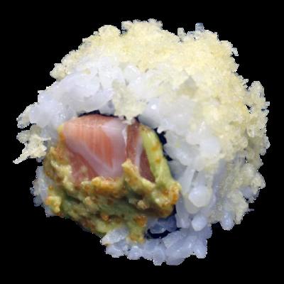 Creamy Crispy Salmon: zalm | avocado | kuit | mayo | crispy (8 st)