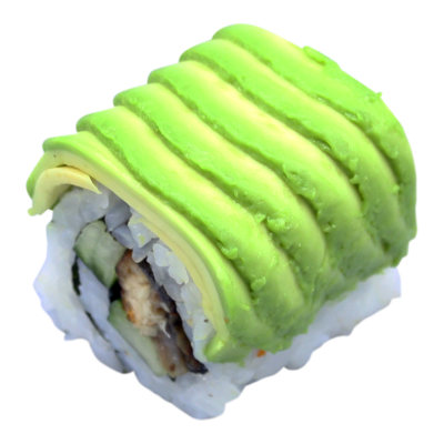 Dynamite: paling | teriyaki | kom. | spice saus | avo. | sesam (8 st)