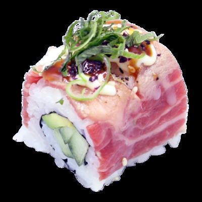 RockoShisoWagyu: wagyu | kom. | avo. | mayo | teriyaki | spice | pruim | shiso (8 st)