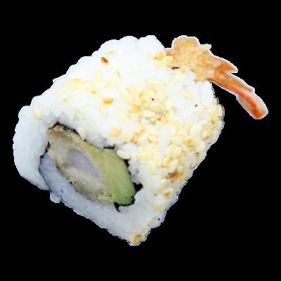 Hawai: geb.garnalen| komkommer| mayo| sesam (8st)