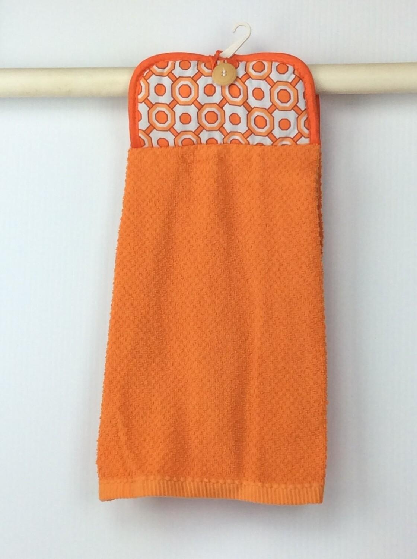 Orange Pot Holder Top hanging towel