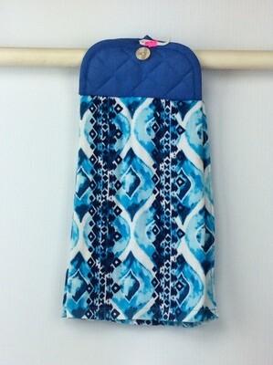 Beautiful Blue Pot Holder top towel