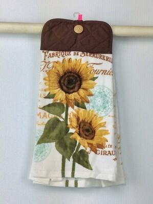 Beautiful Sunflower Pot Holder top towel