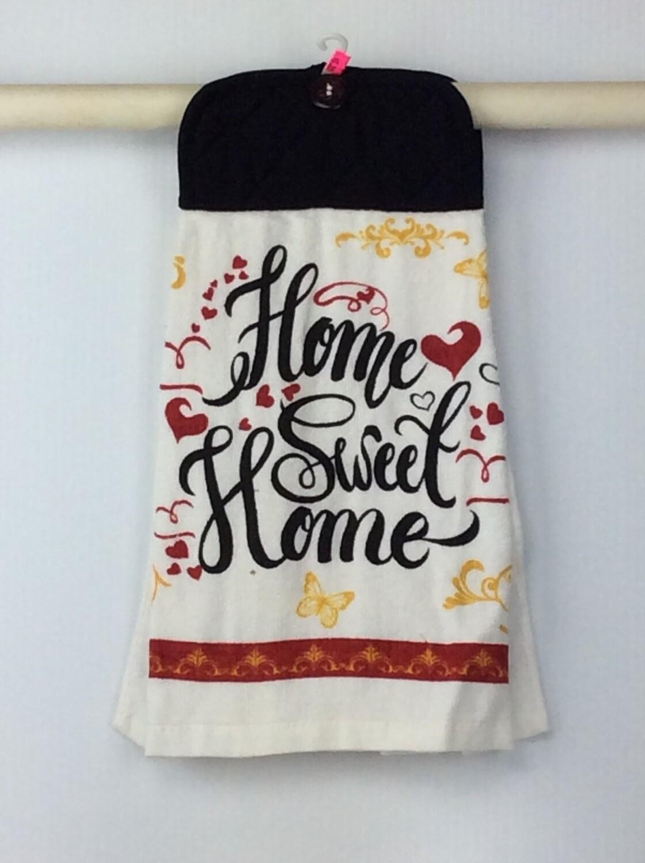 Home Sweet Home Pot Holder Grey top towel