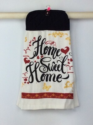 Home Sweet Home Pot Holder Grey top towel