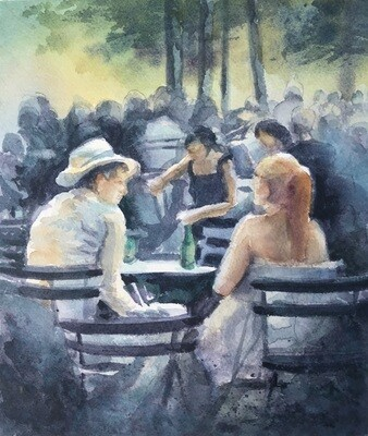 """Sunday in the Outdoor Café"""