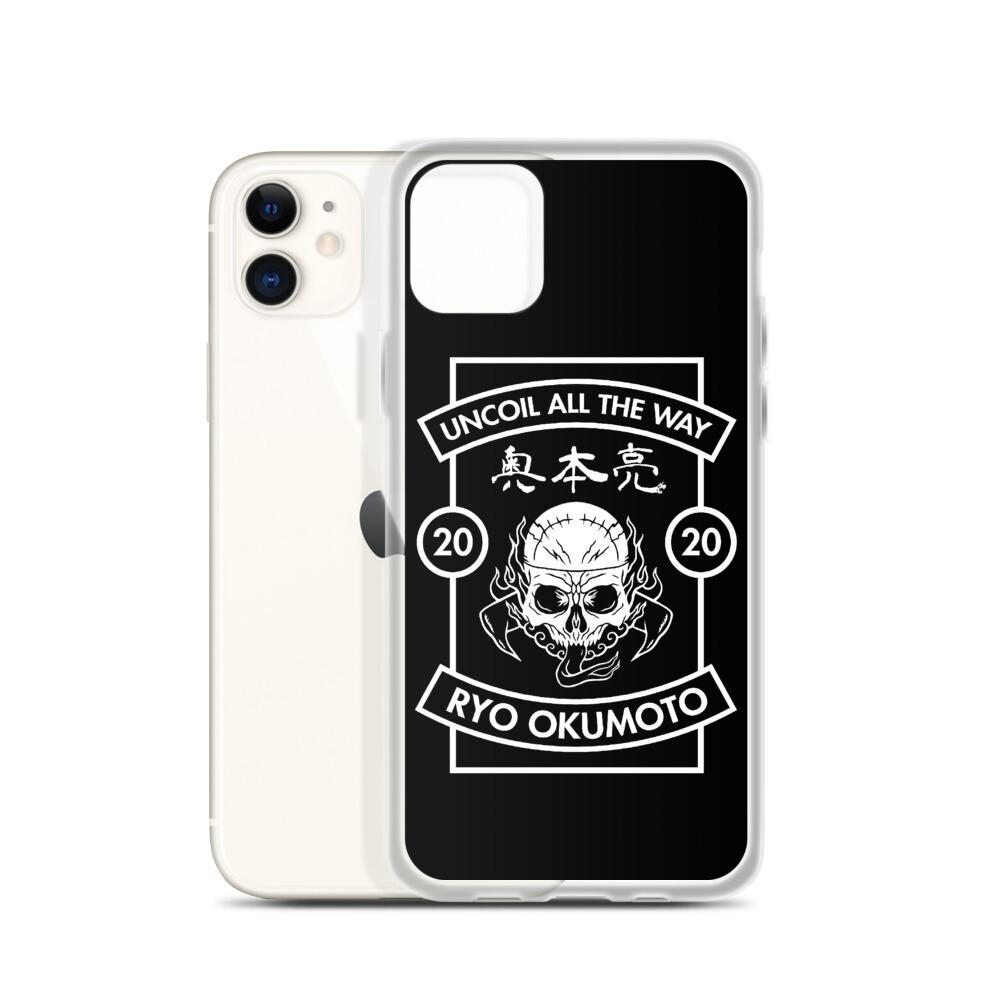 Skull Design Uncoil Black iPhone Case