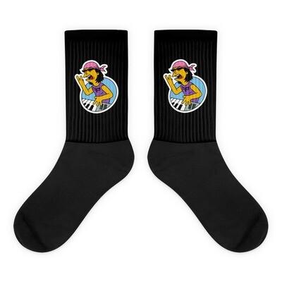Black Cartoon Ryo Socks