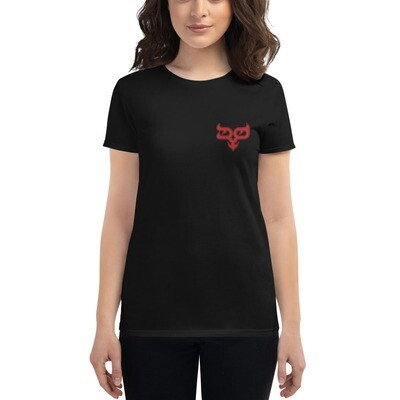 Red Ryo Logo Embroidered Women's T-shirt