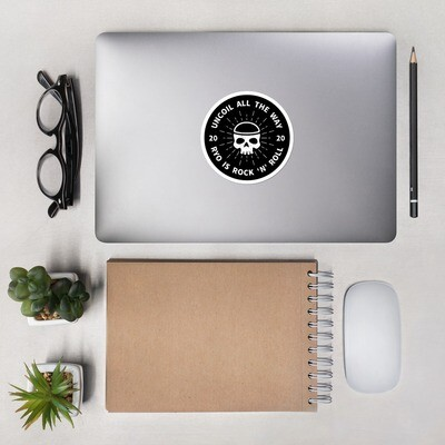 Circular Skull Ryo Sticker