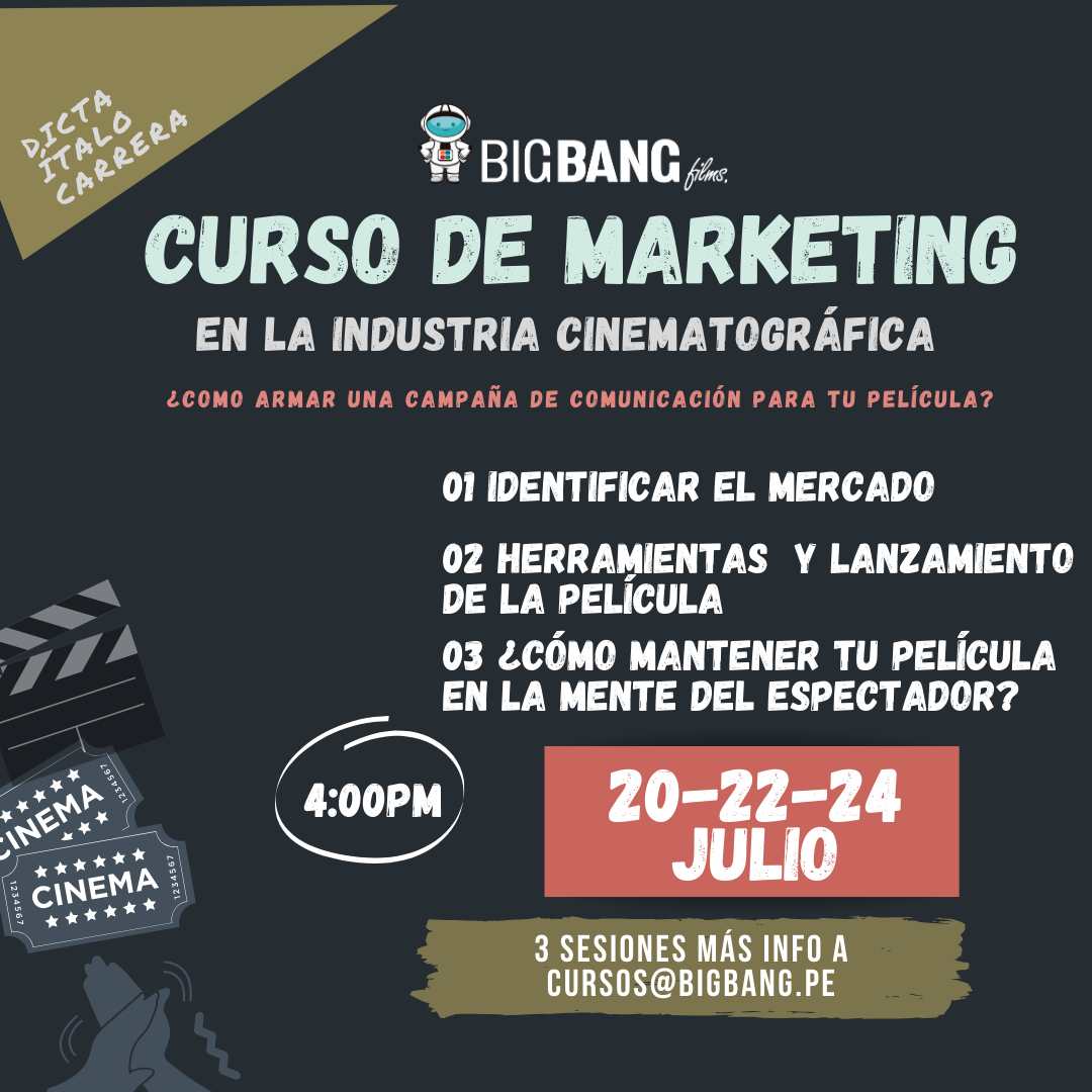 CURSO DE MARKETING EN LA INDUSTRIA CINEMATOGRÁFICA