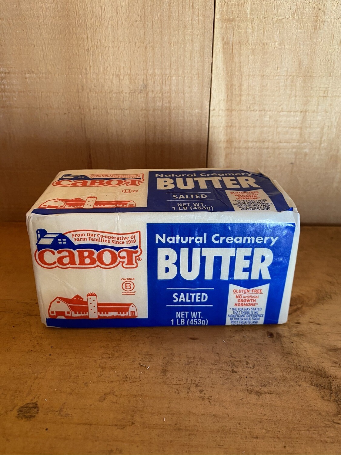 Natural Creamery Salted Butter | 1lb Block | Cabot