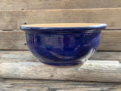 Greenhouse Pot | Glazed Low Bowl Planter, Blue | 15