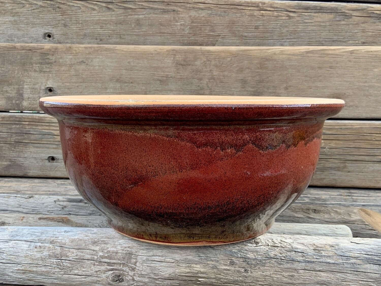 Greenhouse Pot | Glazed Low Planter | 15