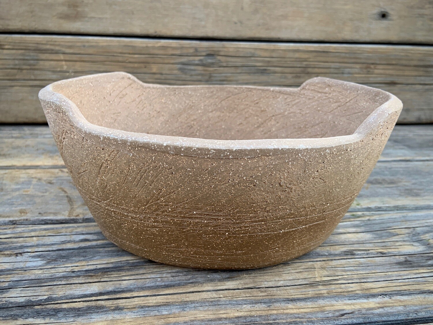 Greenhouse Pot | Rustic Clay Low Bowl Planter | 4