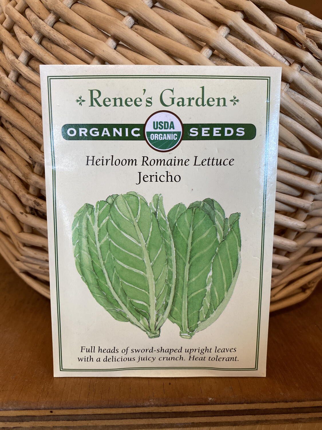Heirloom Romaine Lettuce Jericho   Renee's Garden Seed Pack   Past Year's Seeds   Reduced Price