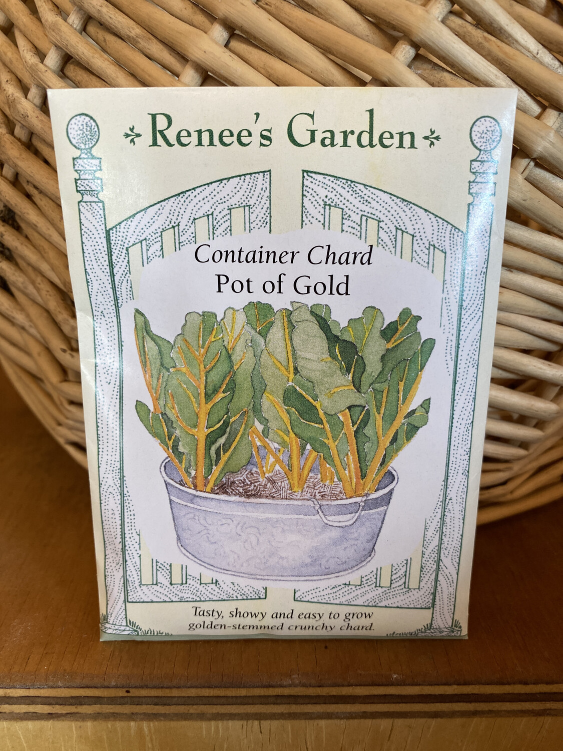 Container Chard Pot of Gold | Renee's Garden Seed Pack | Past Year's Seeds | Reduced Price