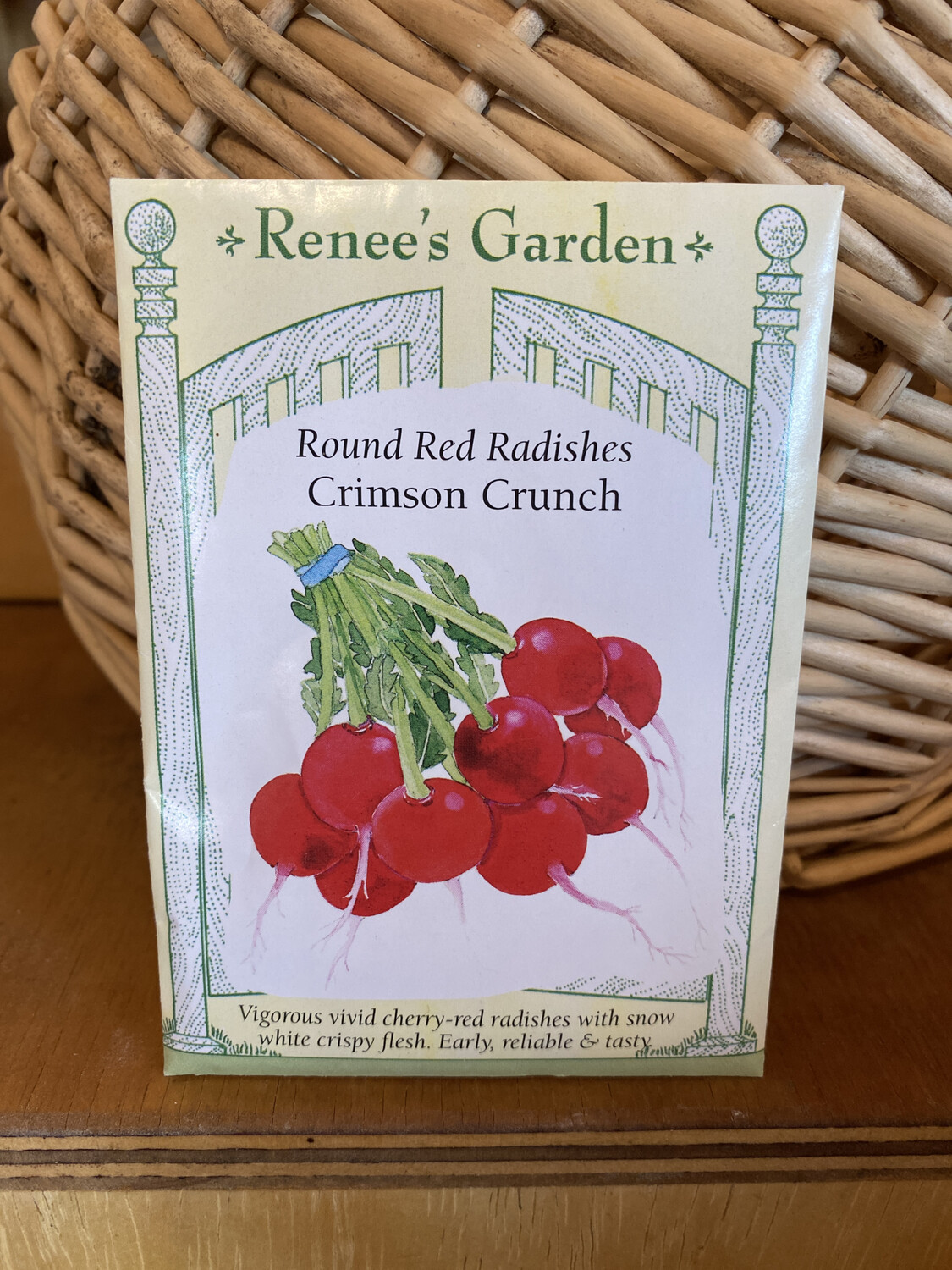Round Red Radishes Crimson Crunch | Renee's Garden Seed Pack | Past Year's Seeds | Reduced Price