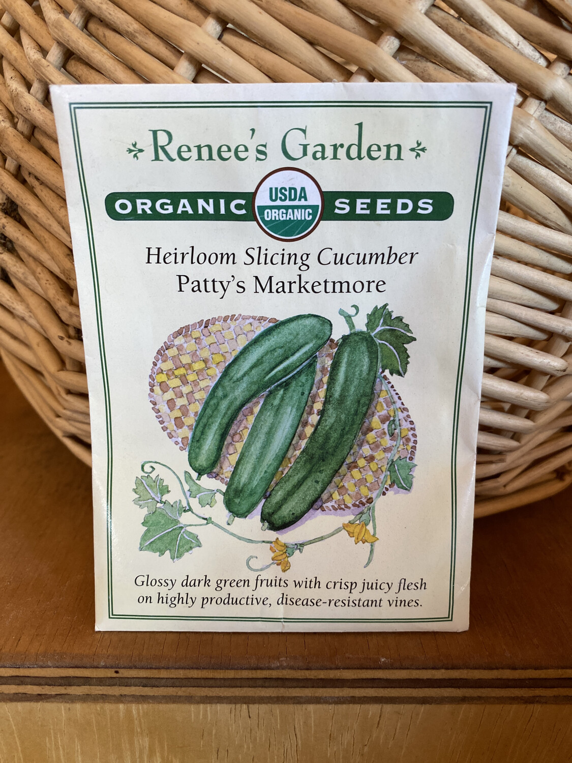 Heirloom Slicing Cucumber Patty's Marketmore   Renee's Garden Seed Pack   Past Year's Seeds   Reduced Price