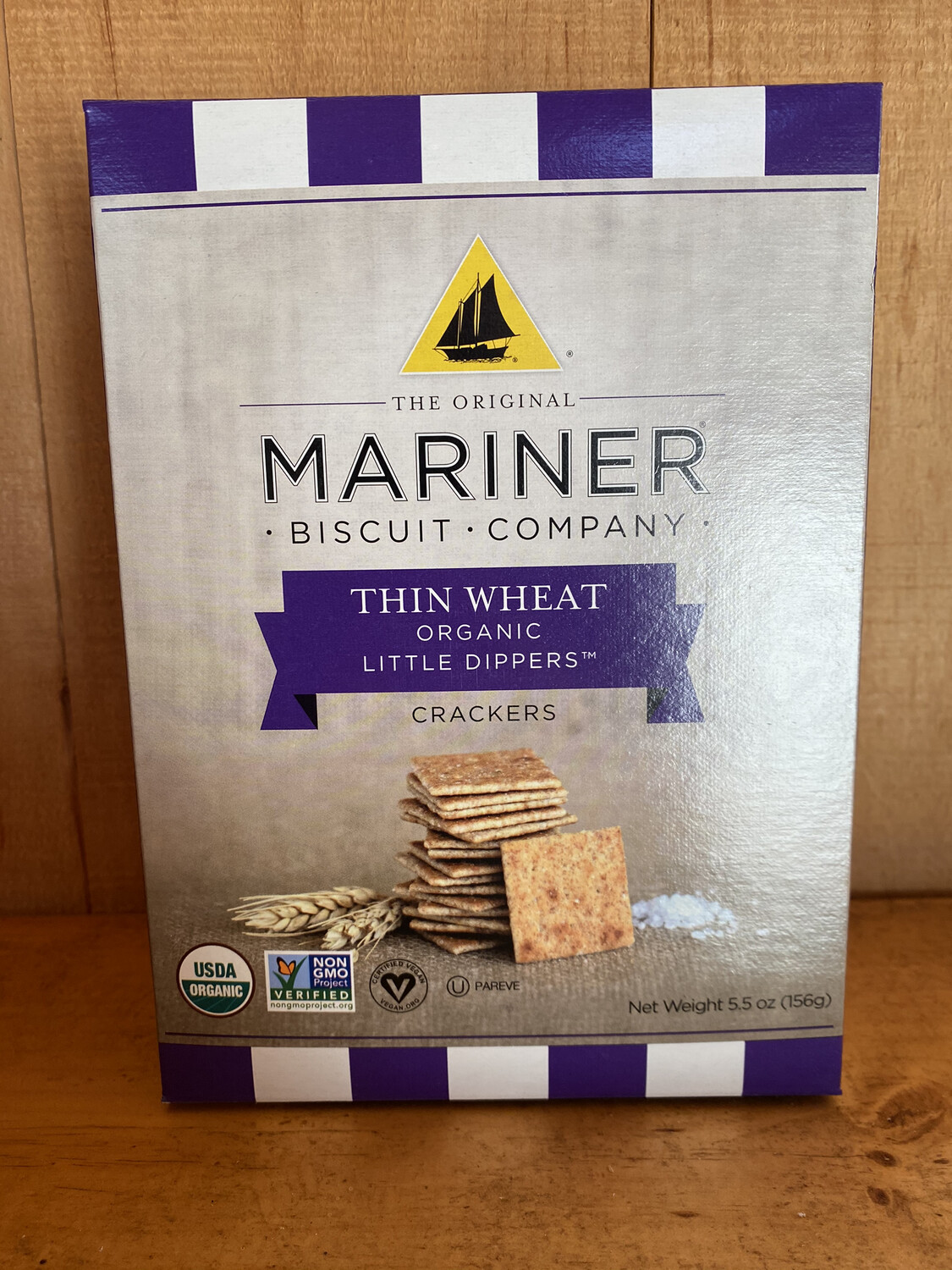 Thin Wheat Organic Little Dipper Crackers | Mariner Biscuit Company | 5.5oz