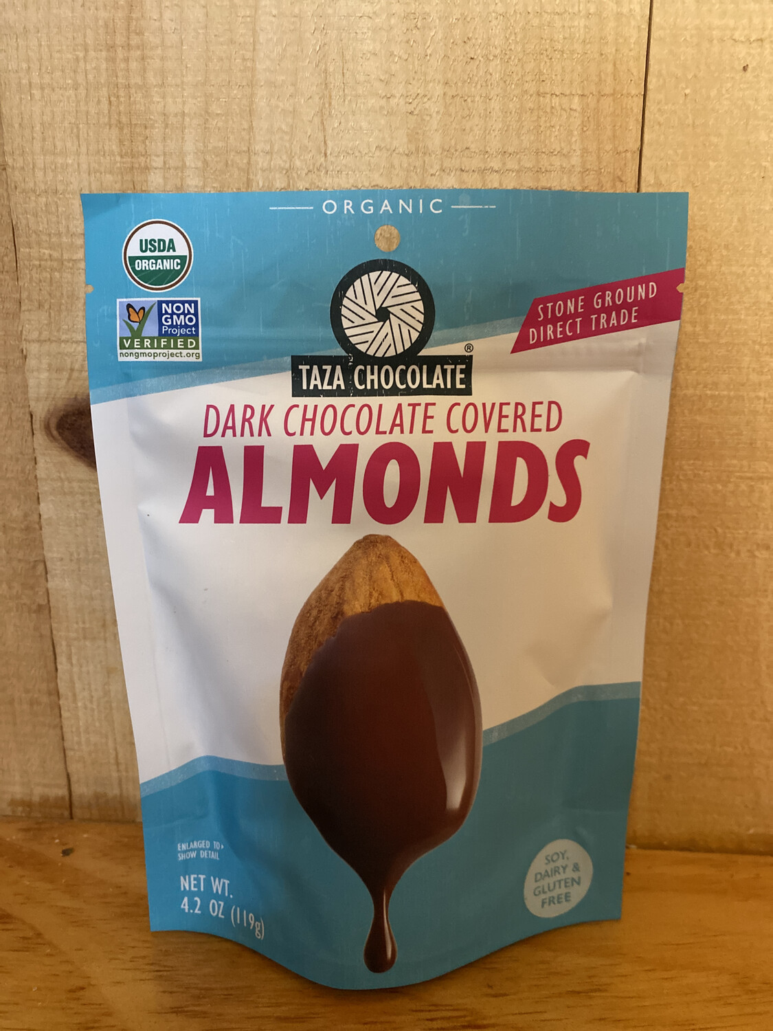 Taza Dark Chocolate Covered Almonds