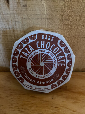 Taza Chocolate Disc | Salted Almond | 2.7oz