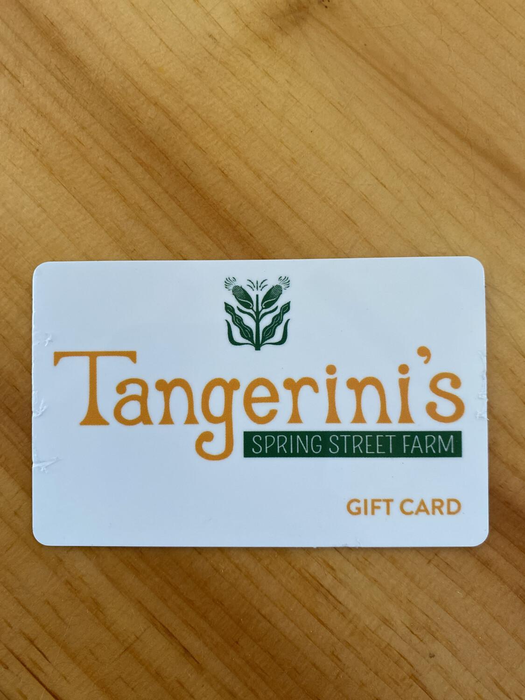 Tangerini's $10 Gift Card