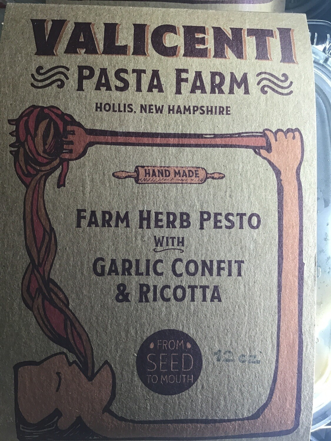 Valicenti Farm Herb Pesto with Garlic Ravioli