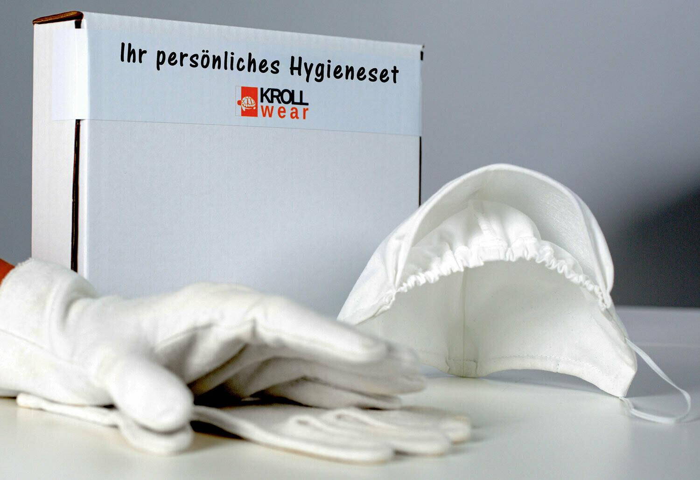 Maske und Baumwollhandschuhe - Hygieneset 2