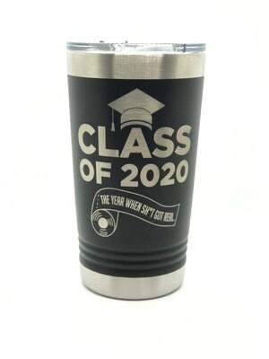 Class of 2020  16 oz. Pints Tumbler