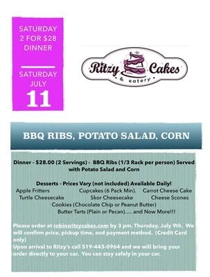 Saturday Dinner - BBQ Ribs