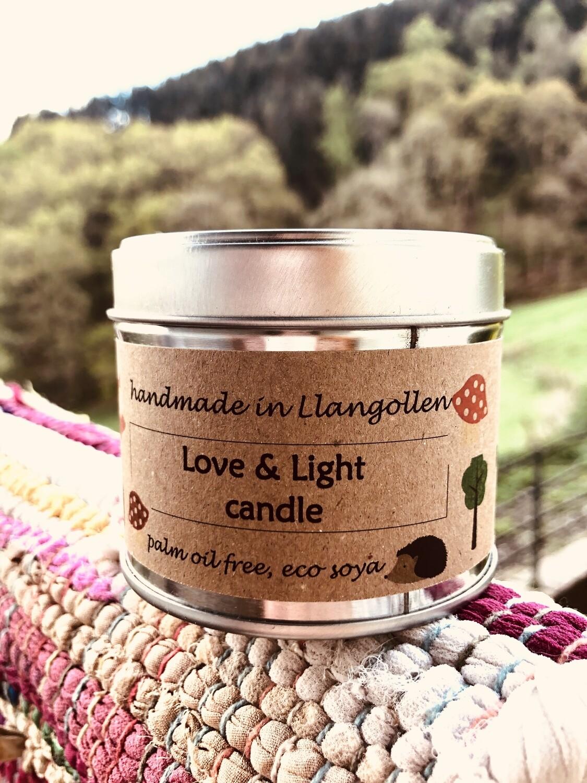 Love & Light Eco Soya Candle (35 hrs burn)