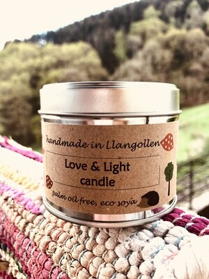 Love & Light Eco Soya Candle (35 hrs burn)