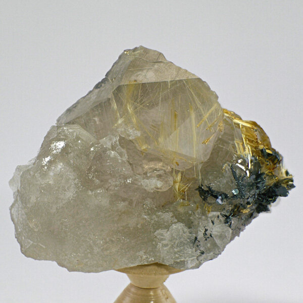 Rutilated Smoky Quartz Cluster