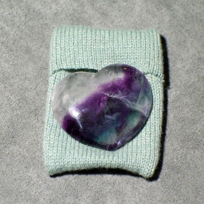 Fluorite Heart with Small Courier