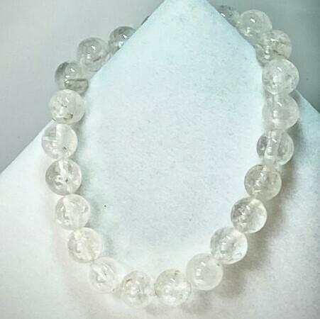 Clear Quartz Bead Bracelet 8mm