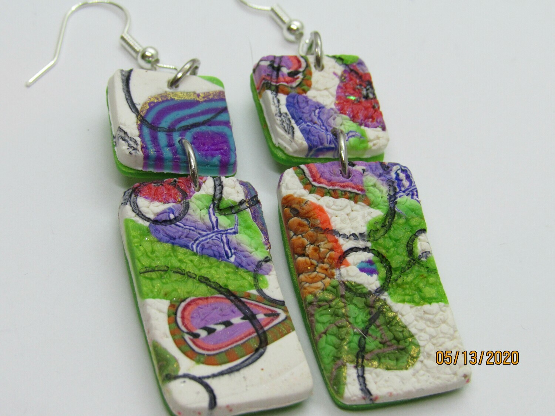 Modern abstract Dangle earrings