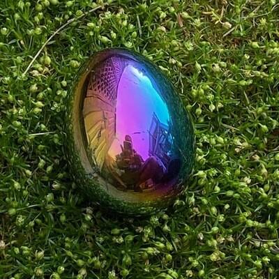 Hematite Egg with Titanium Coat