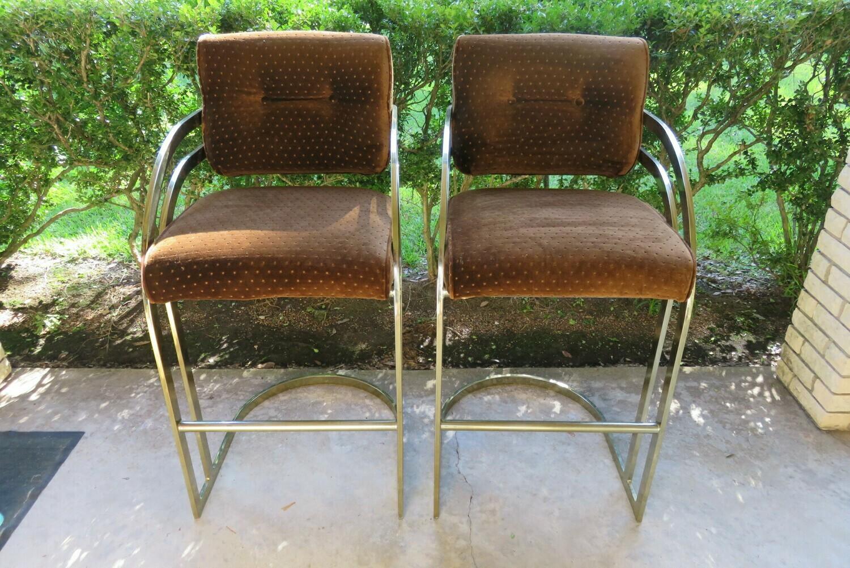 Midcentury Chrome Barstools