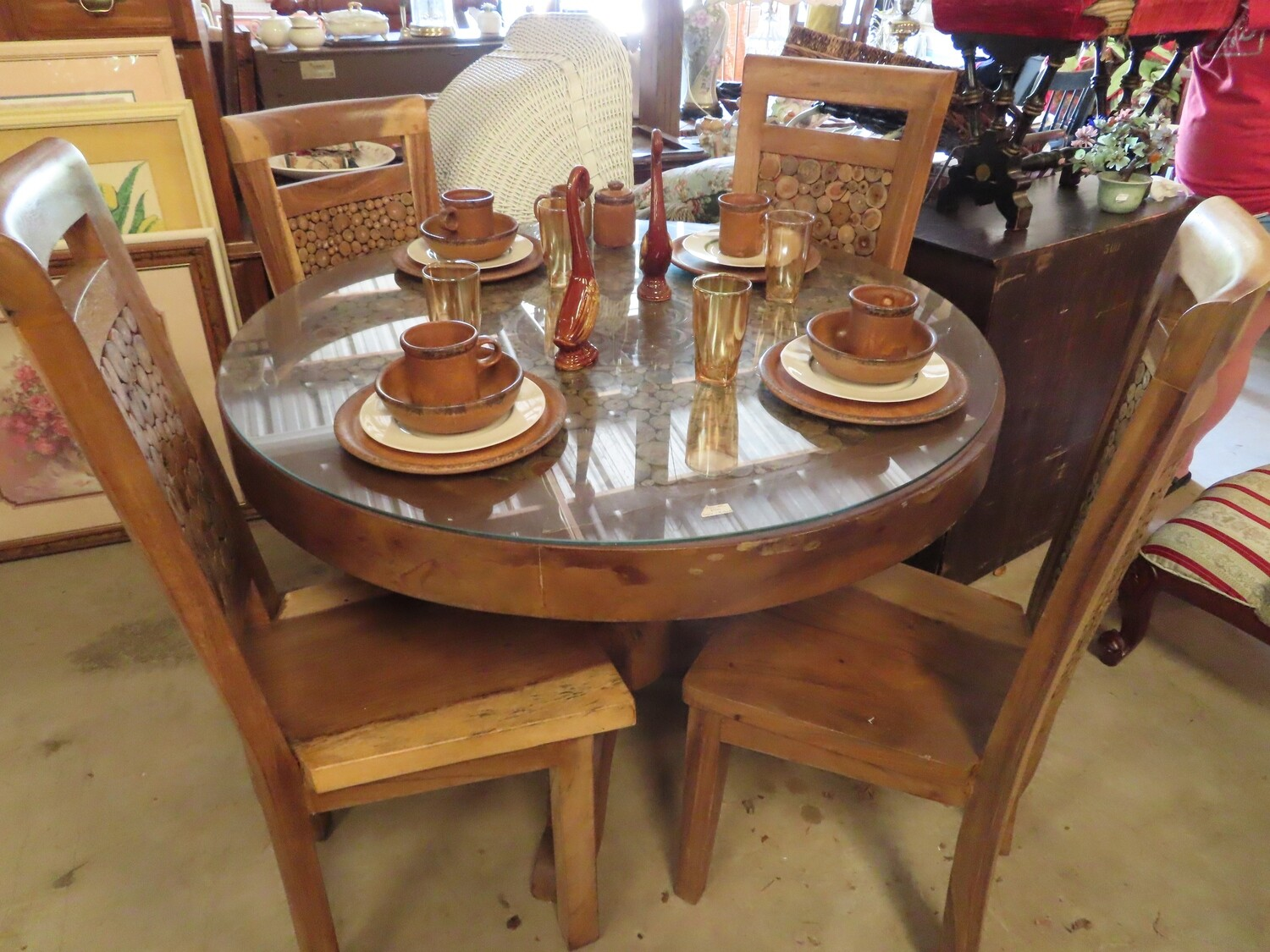Unique Table & 4 Chairs