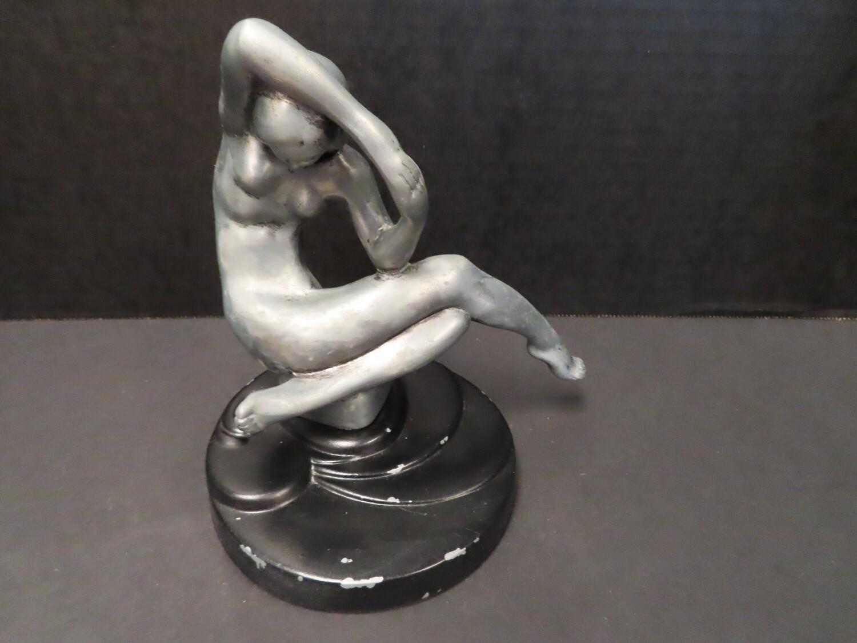 Art Deco Silver Nude Figurine