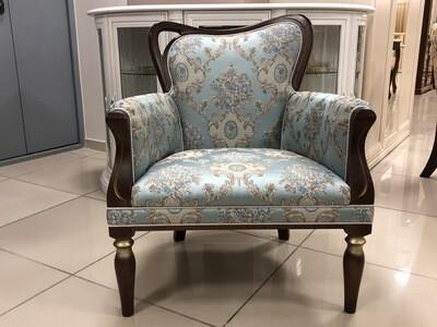 Кресло Каприо 12-11 орех голубое