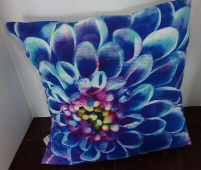 Bright Blue Flower Pillow