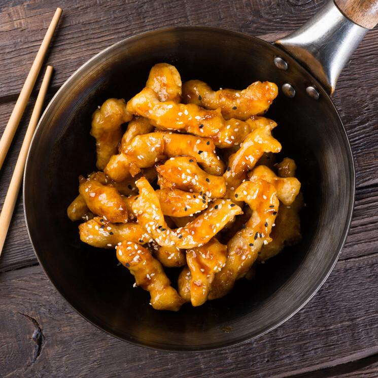 Медово-кунжутный цыпленок