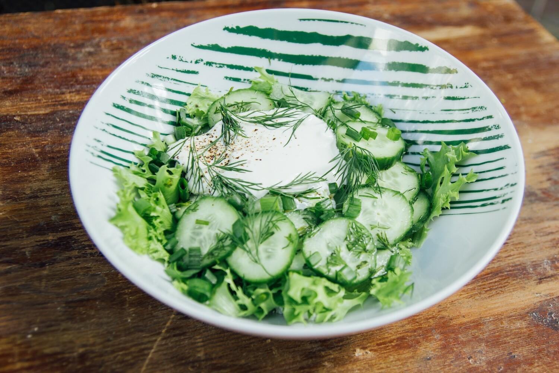 Овочевий салат з домашнім сиром
