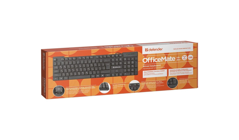 Проводная клавиатура Defender OfficeMate HB-260