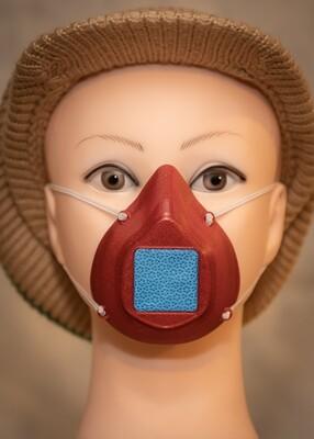 Adult Face Mask - Burgundy (metallic)