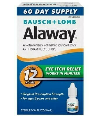 Alaway Allergy Drops 1 Bottle Bausch & Lomb