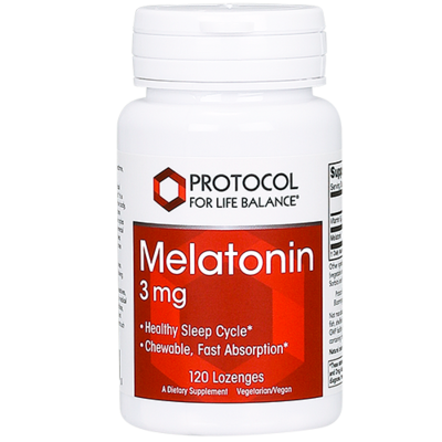 Melatonin 3mg 120 lozenges Protocol for Life Balance