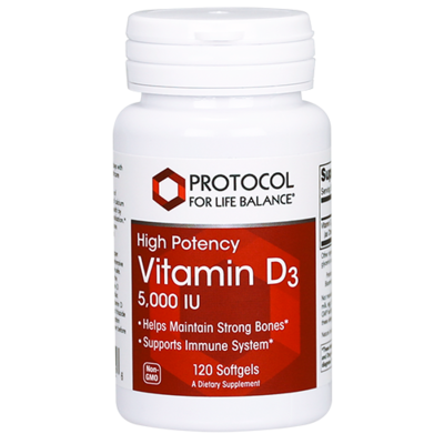 Vitamin D3 5000IU 120gel Protocol for Life Balance